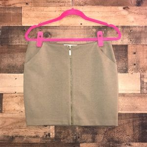 MICHAEL KORS | Army Green Mini Skirt